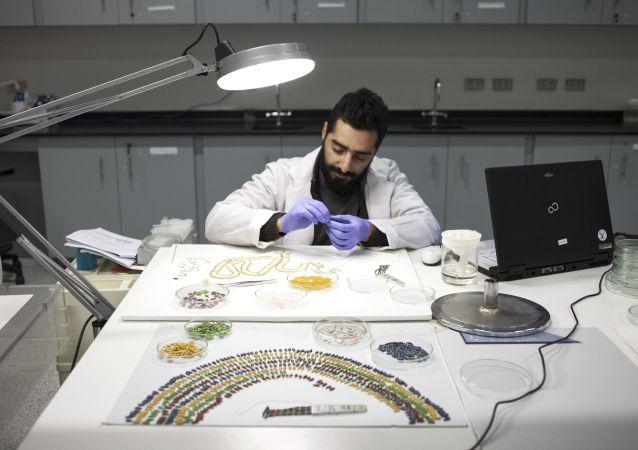 Restaurování náhrdelníku faraóna Tutanchamona v restaurátorské dílně Velkého egyptského muzea v Gíze