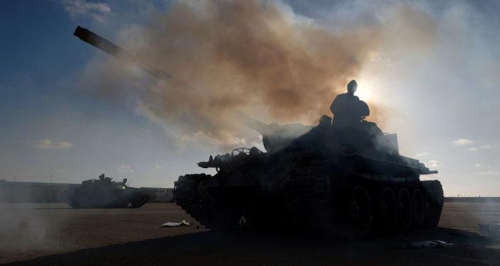 Příslušníci Libyjské národní armády, které velí maršál Chalífa Haftar