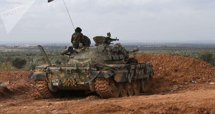 Čelní pozice syrské armády v oblasti Aleppo