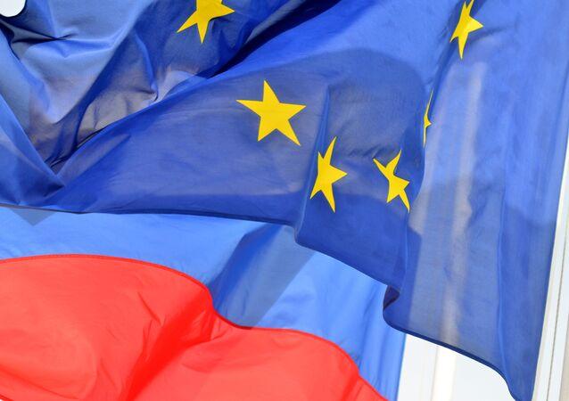 Vlajky Ruska a EU