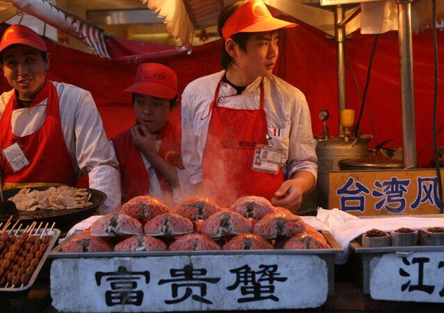 Pouliční prodej v Pekingu