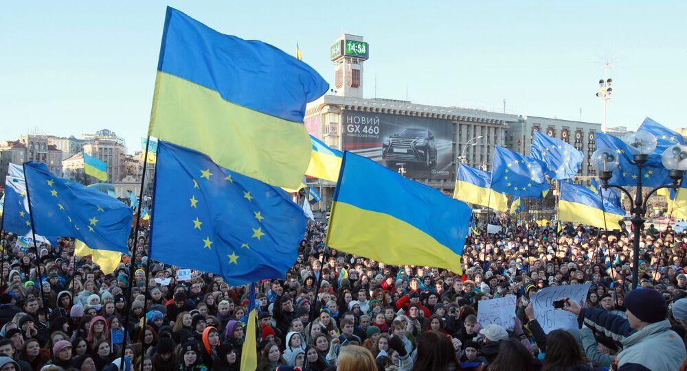 Demonstrace za eurointegraci Ukrajiny