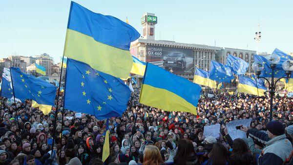 Demonstrace za eurointegraci Ukrajiny - Sputnik Česká republika