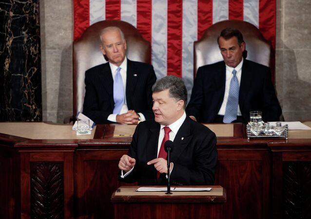 Ukrajinský prezident Petro Porošenko ve Spojených státech amerických