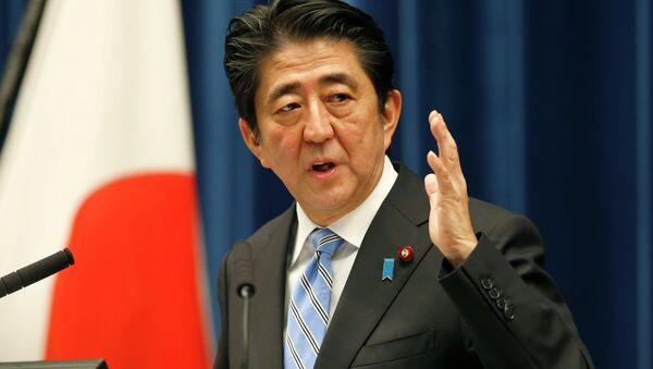 Předseda japonské vlády Šinzó Abe - Sputnik Česká republika