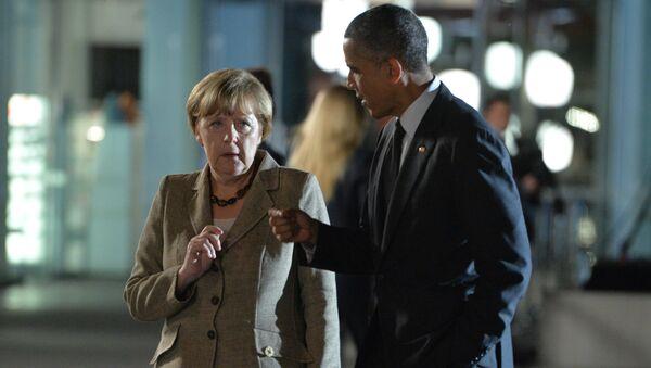 Angela Merkelová a Barack Obama - Sputnik Česká republika