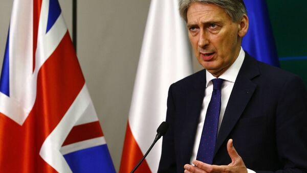 Ministr zahraničních věcí Velké Británie Philip Hammond - Sputnik Česká republika