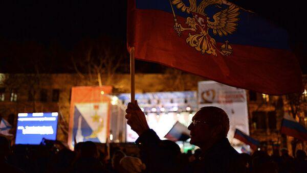 V Sevastopolu po hlasování během Krymského referenda. Archivní foto - Sputnik Česká republika