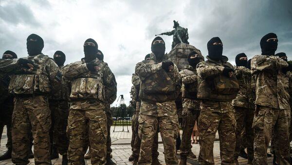 Bojovníci z pluku Azov - Sputnik Česká republika