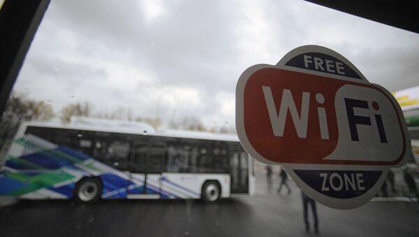 Znak Wi-Fi v městském autobusu - Sputnik Česká republika