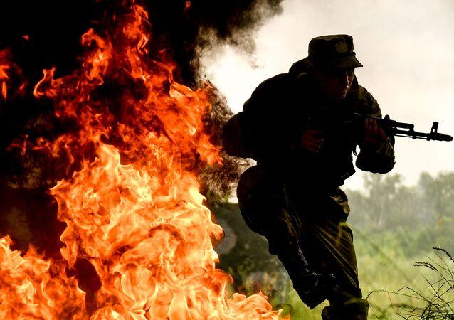 Exkluzivní záběry z vojenského cvičení Tamanské motostřelecké divize