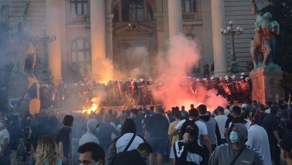 Protesty v Srbsku - Sputnik Česká republika