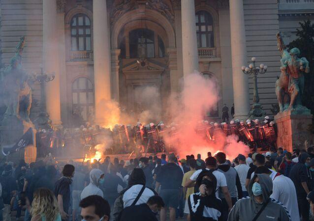 Protesty v Srbsku