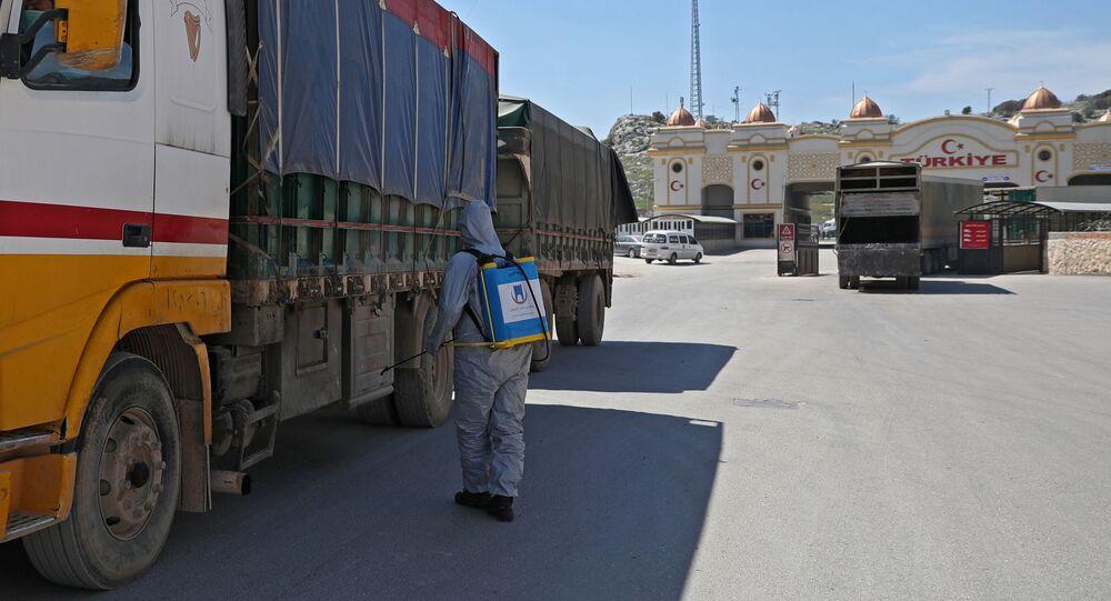 Hraniční přechod Bab al-Hawa na turecko-syrské hranici