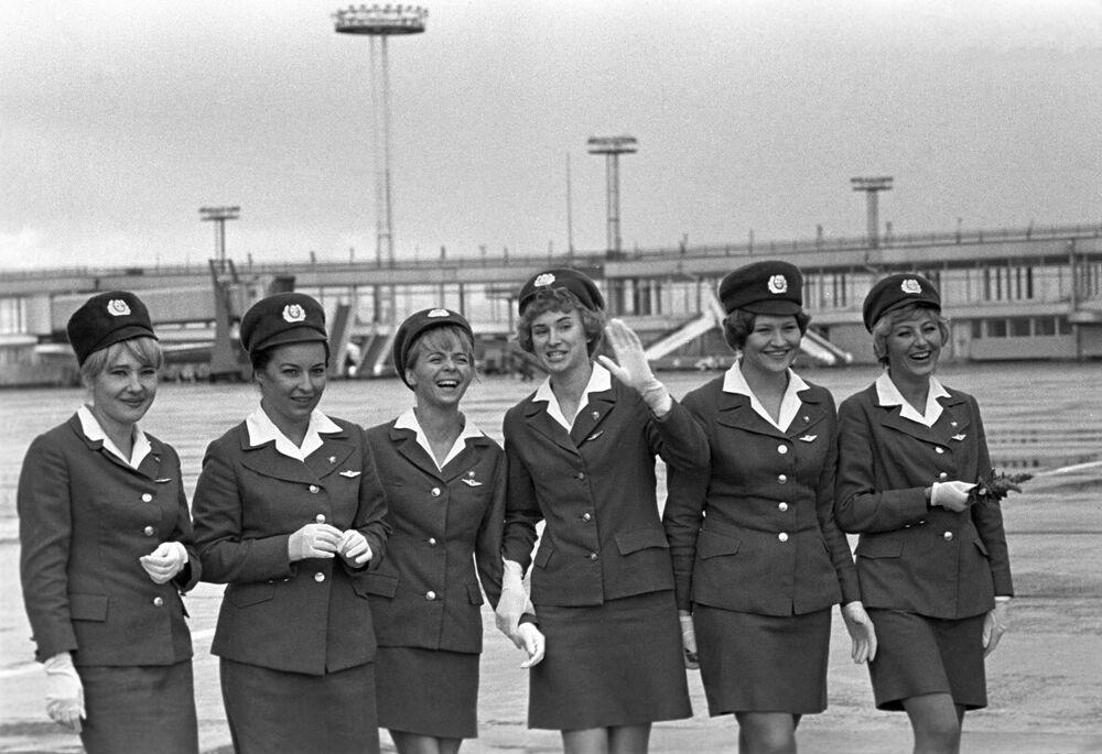 Letušky moskevského letiště Domodědovo
