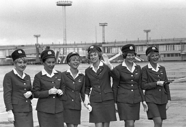 Letušky moskevského letiště Domodědovo - Sputnik Česká republika