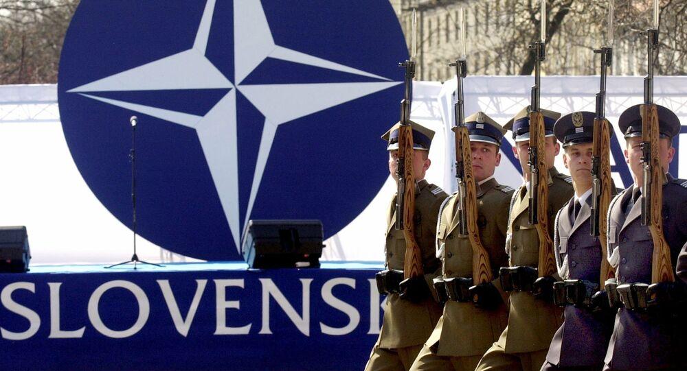 Logo NATO. Bratislava