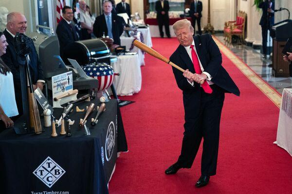 Americký prezident Donald Trump během show Duch Ameriky v Bílém domě, Washington - Sputnik Česká republika