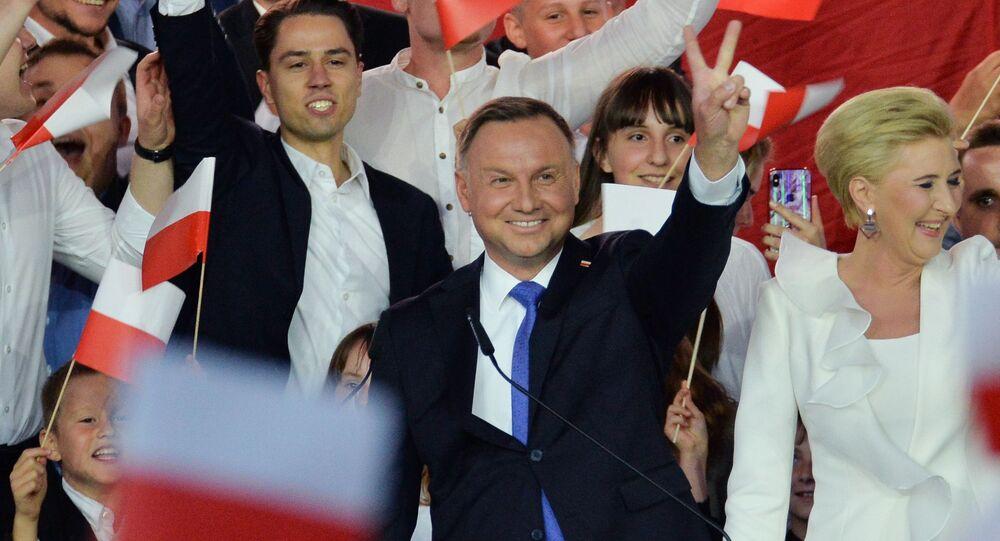 Andrzej Duda během voleb polského prezidenta