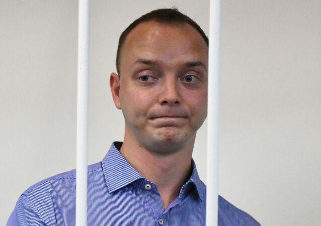 Poradce šéfa Roskosmosu a bývalý novinář Ivan Safronov u soudu