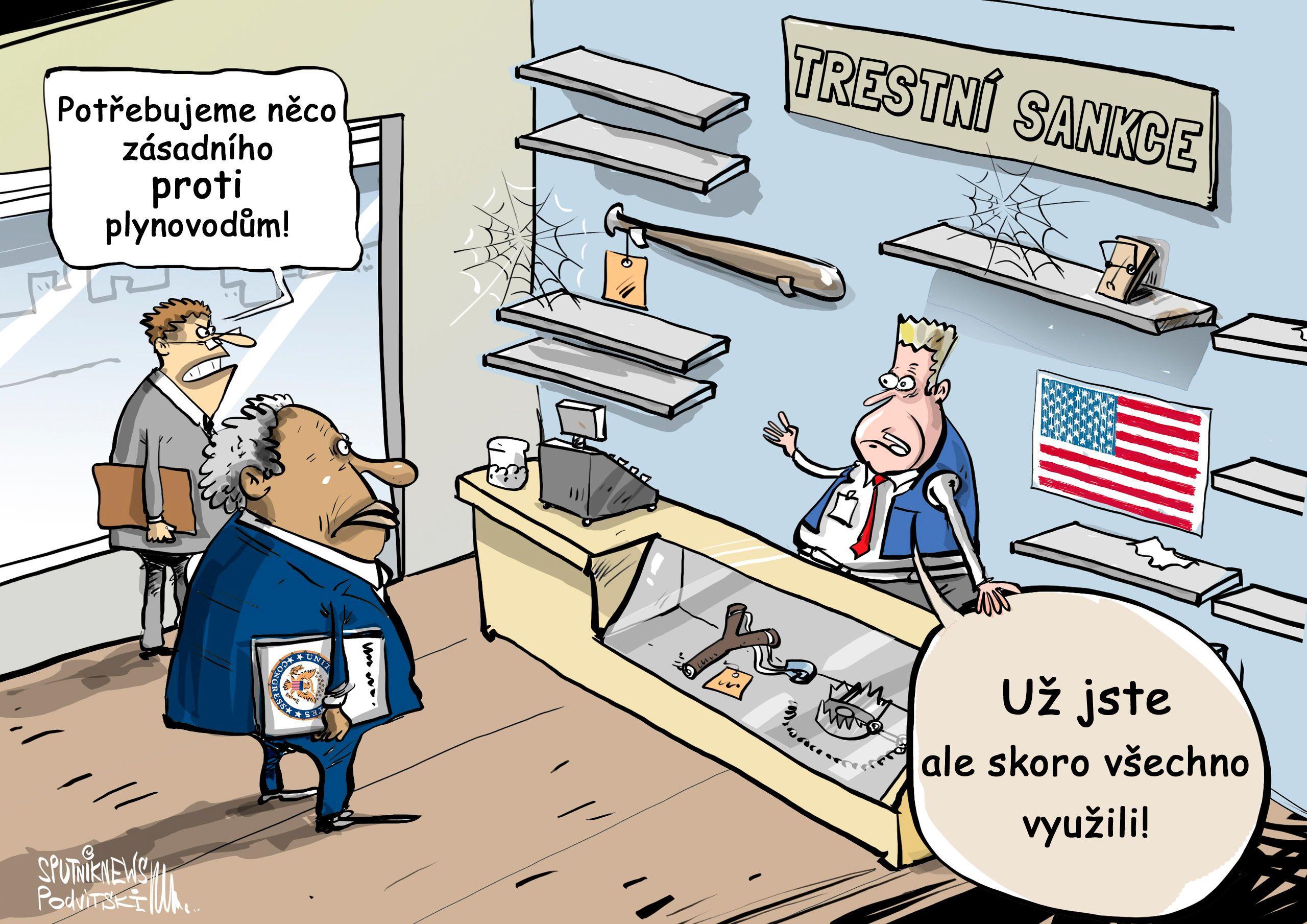 USA zavádí nové trestní sankce