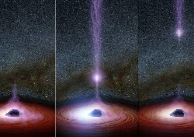 Erupce rentgenového záření kolem černé díry