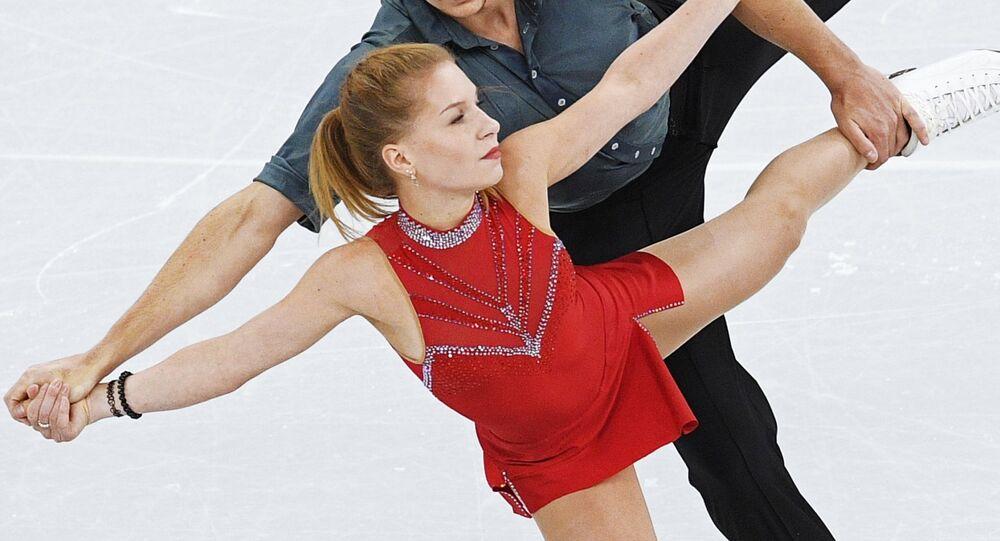Jekatěrina Aleksandrovská s partnerem