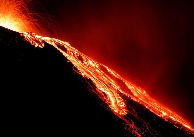 Sopka Stromboli. Archivní foto