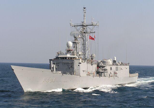 Turecká loď v Černém moři