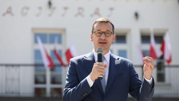 Polský premiér Mateusz Morawiecki  - Sputnik Česká republika