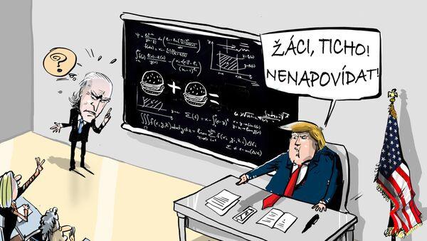 Trump: Biden musí projít testem inteligence - Sputnik Česká republika