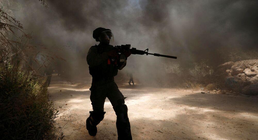 Izraelská pohraniční stráž během služby