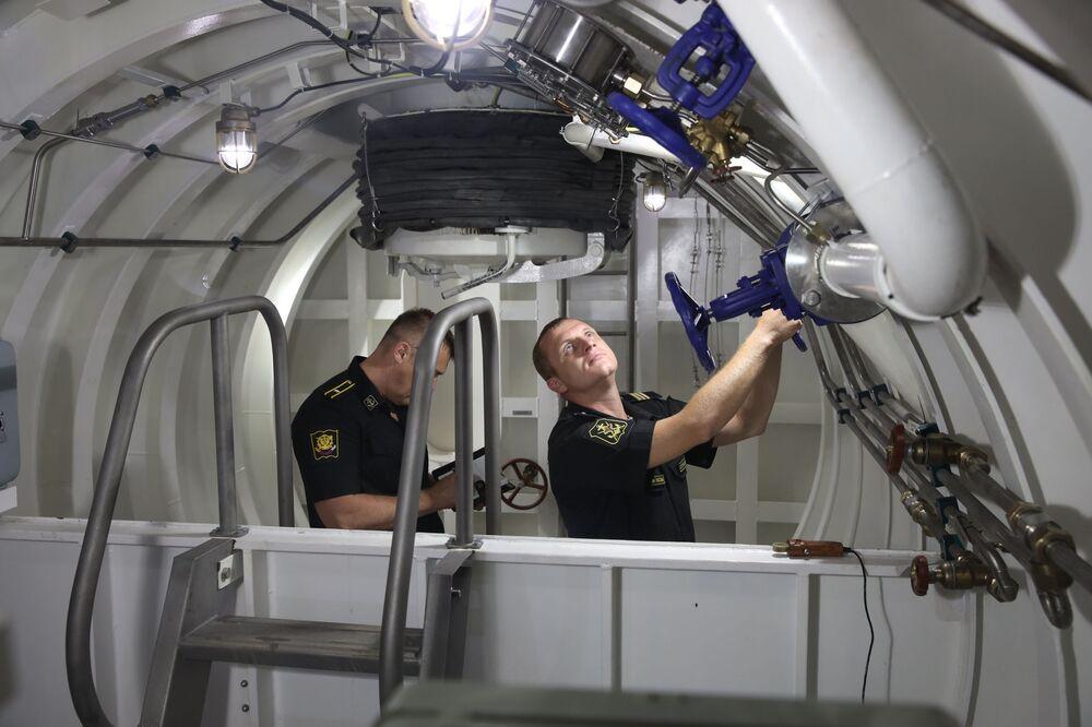 Prezentace nových výcvikových komplexů ruské Černomořské flotily, Novorossijsk.