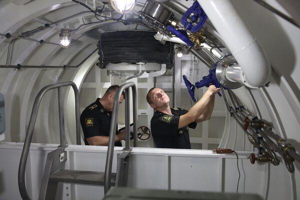 Prezentace nových výcvikových komplexů ruské Černomořské flotily, Novorossijsk.  - Sputnik Česká republika
