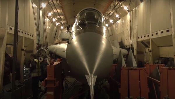 An-22 přepravuje stíhačku MiG-29 (video, Ministerstvo obrany RF) - Sputnik Česká republika