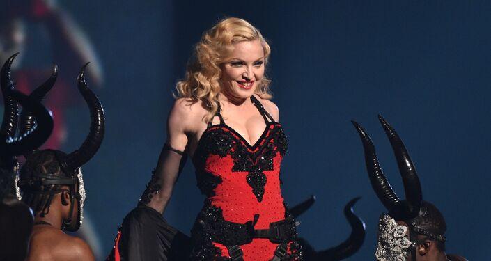 Zpěvačka Madonna v Los Angeles. 2015