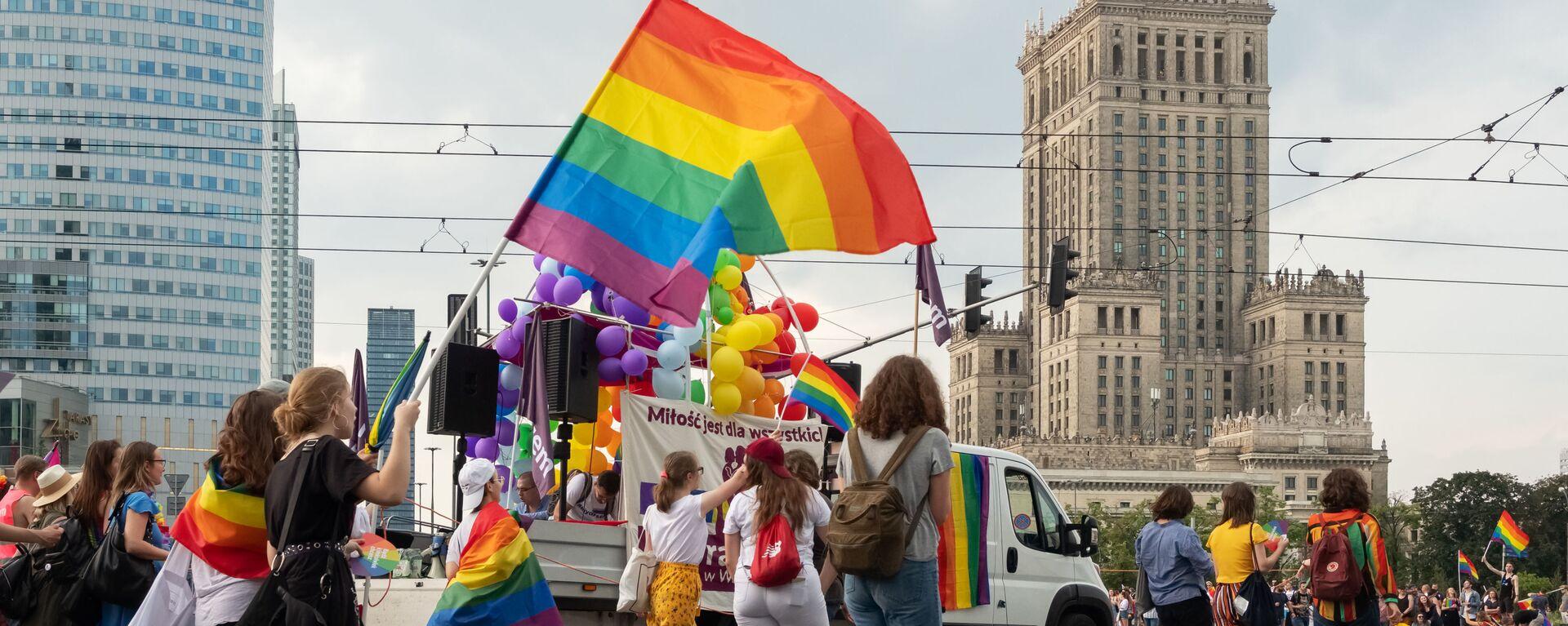 Pohod LGBT ve Varšavě - Sputnik Česká republika, 1920, 01.10.2020