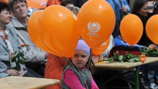 Na předvolebním mítinku ČSSD - Sputnik Česká republika