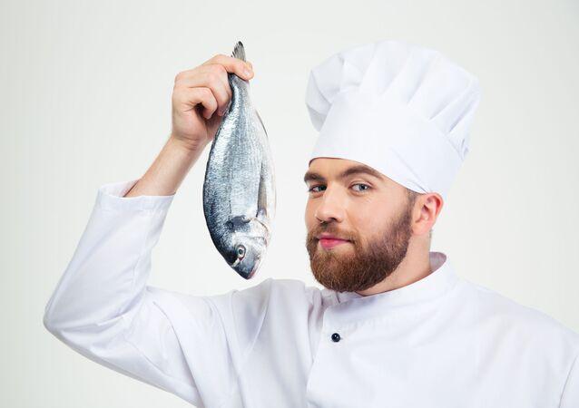 Kuchař s rybou