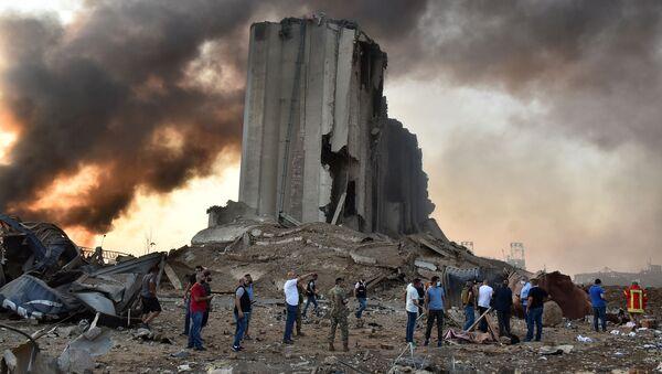 Následky exploze v Bejrútu. - Sputnik Česká republika