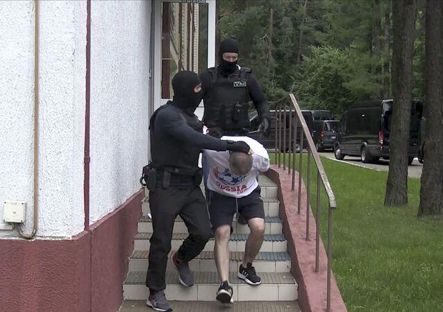 Zadržení ruských občanů v Bělorusku