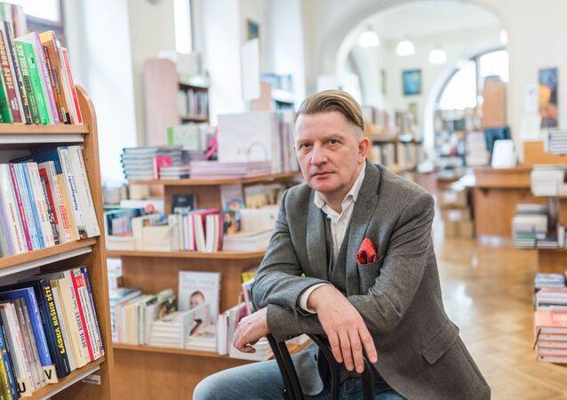 Český spisovatel, knihkupec a nakladatel Jiří Padevět