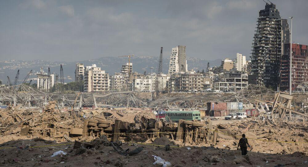 Důsledky požáru v bejrútském přístavu