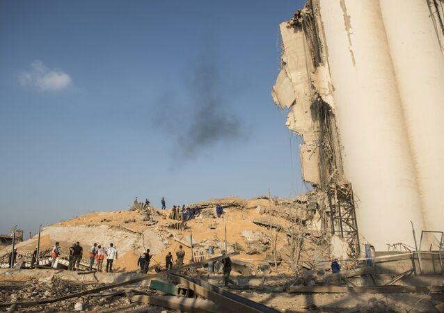 Následky výbuchu v Bejrútu