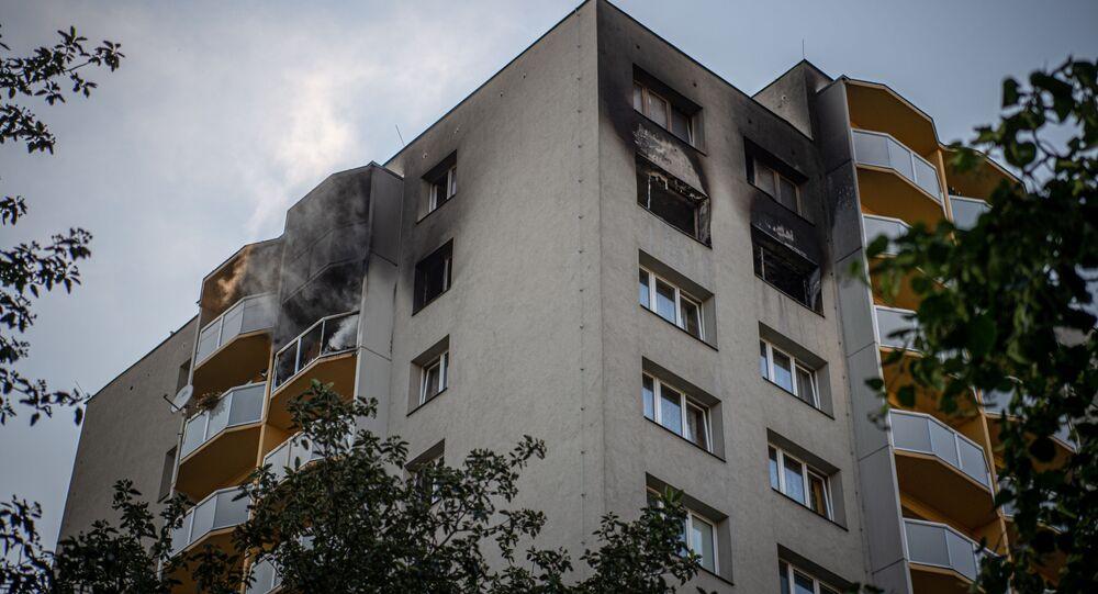 Požár v bytě v Bohumíně