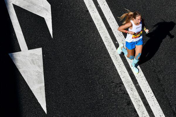 Účastnice moskevského půlmaratonu 2020 - Sputnik Česká republika