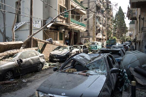 Následky výbuchu v Bejrútu, Libanon - Sputnik Česká republika