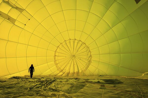 Účastník festivalu horkovzdušných balonů. Bristol, Velká Británie - Sputnik Česká republika