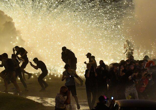 Protesty v Minsku proti výsledku prezidentských voleb