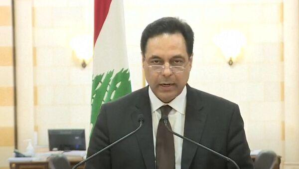 Libanonský premiér Hassan Diab - Sputnik Česká republika
